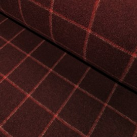 Upholstery fabric Tilla - bordeaux/red/beige check