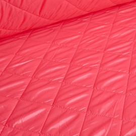 Alexa - Ultra Light Quilted Fabric - Coral