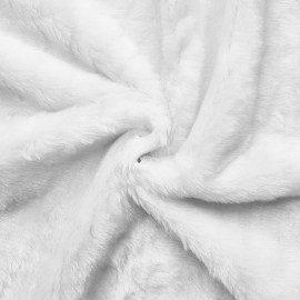 Teddy - woven fur - plush - pure white