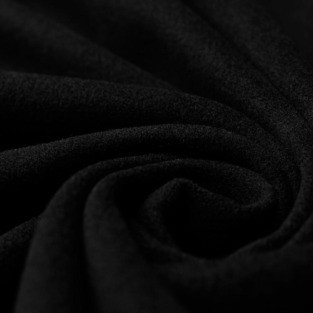 Nelly - wool velour - black