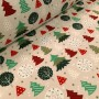 """Sample approx. 2x4cm - Christmas fabric """"Christmas Forest"""""""