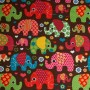 Elephant Cotton Jersey Fabric - Brown